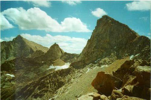 Sawtooth Peak (on the right)...