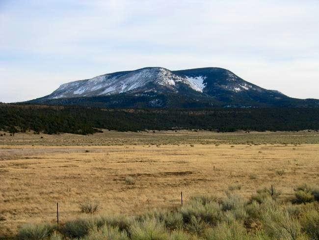 View of Escudilla Mountain...