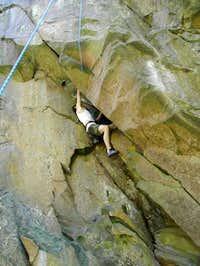 My oldest son climbing a wall...