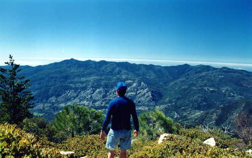Looking toward Cone Peak from Junipero Serra Peak, Ventana Wilderness
