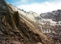Long's Peak (upper left),...