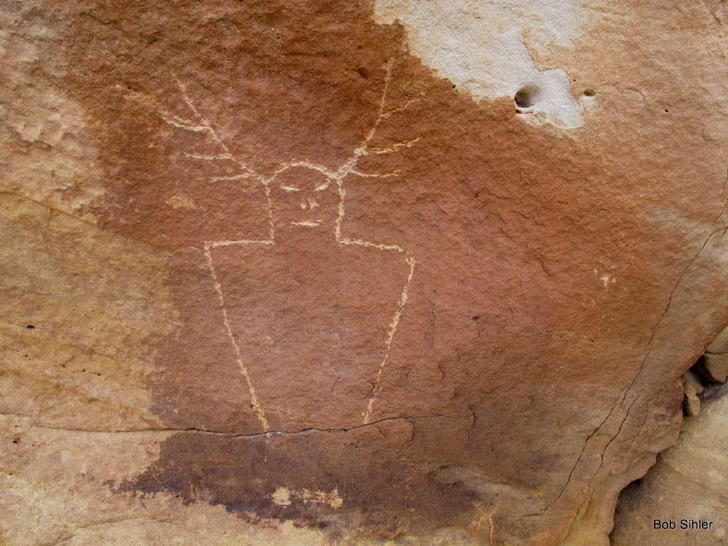 Petroglyph on Caineville Reef
