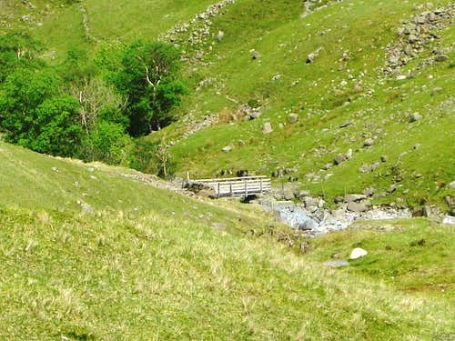 A small bridge over Grains Gill