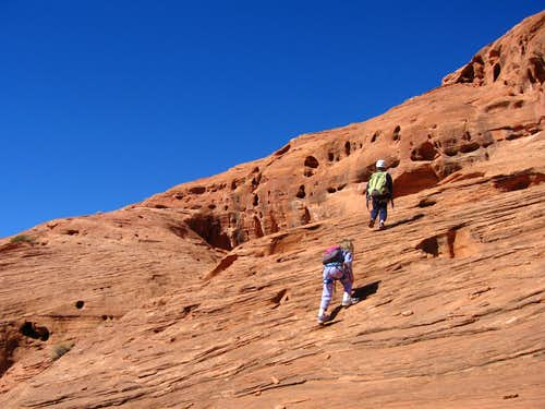 Climbing the slabs