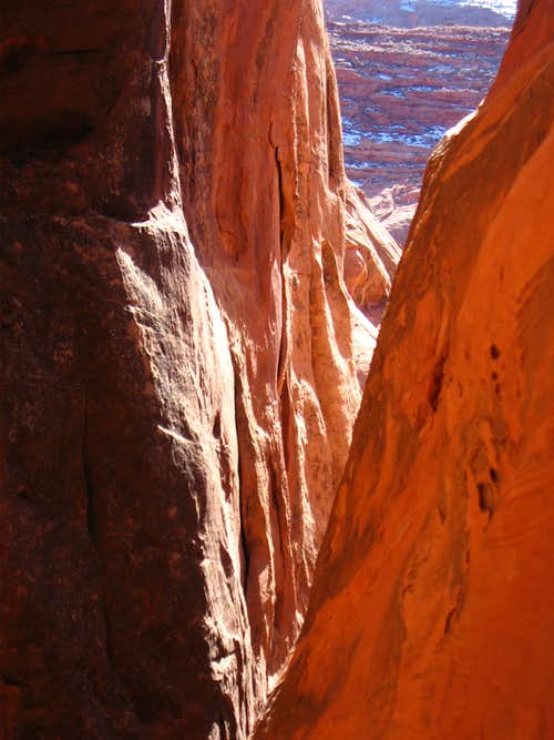 Looking down canyon at rappel 5