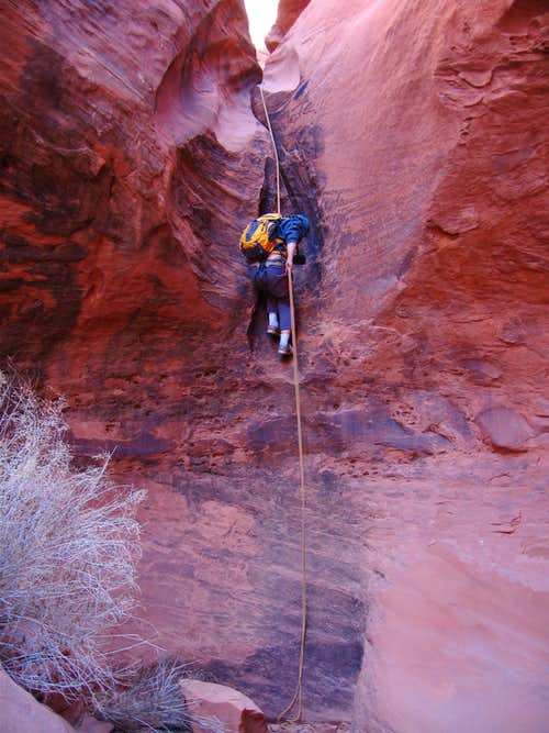 Scott making rappel 5