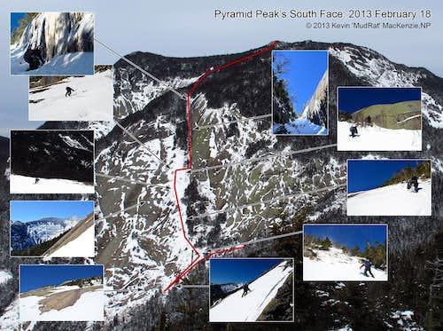 Pyramid Peak South Face and Bushwhack 2013 February 18