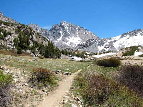 Mount Agassiz from Bishop Pass Trail