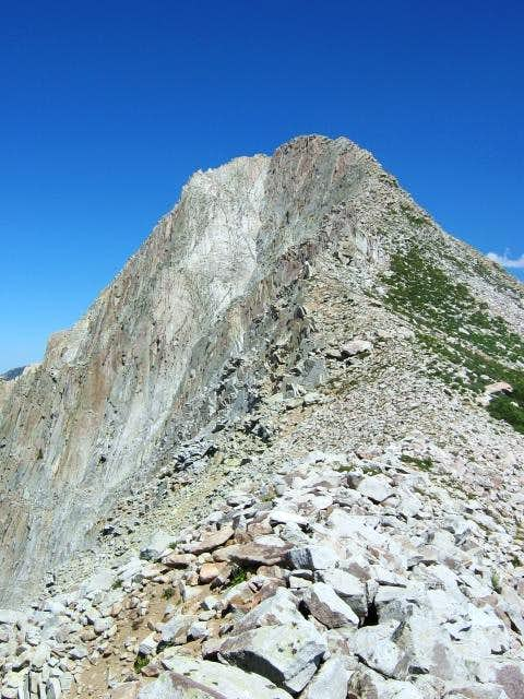 The west face viewed from the...