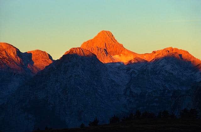 Sunrise over Grosser Hundstod...