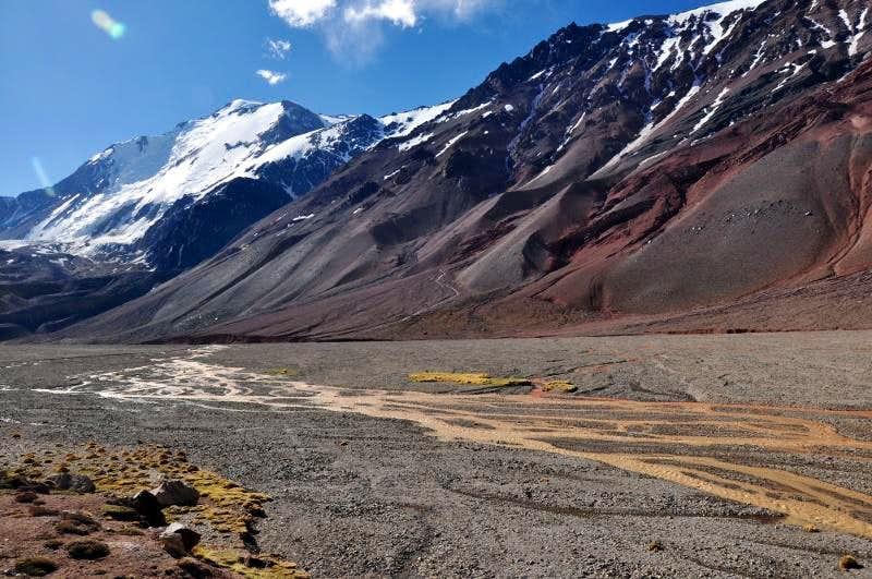 Mercedario South Face Scenery