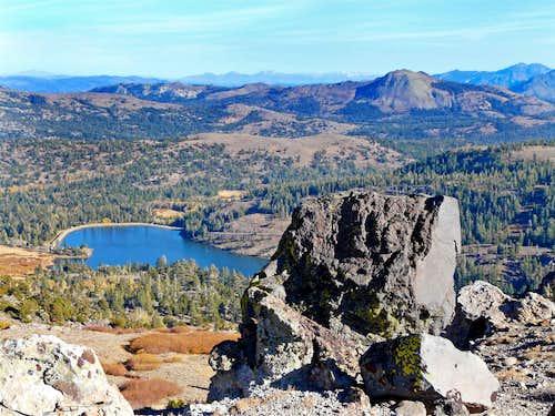 Southeast from Red Lake Peak south ridge
