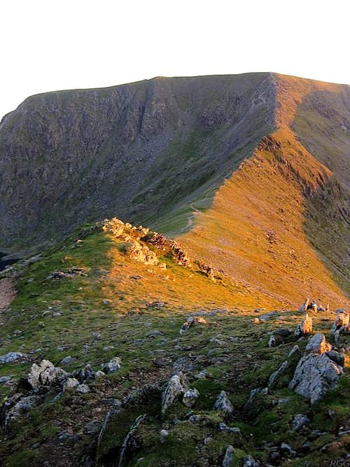 Looking across Swirral Edge from Catstycam to Helvellyn