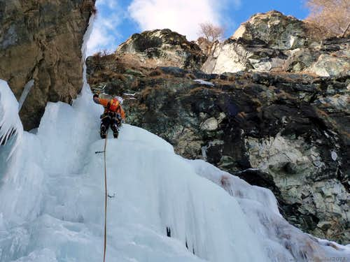 Y icefall, Gressoney, Aosta Valley