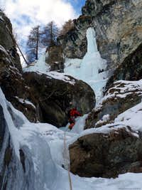 Y icefall, Gressoney