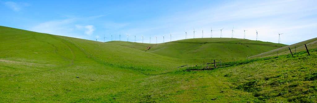 Windmills on Brushy Peak
