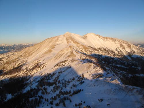 The west side of Electric Peak, seen from the air