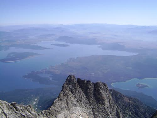 View of the Teton Valley floor from the summit of Mount Moran