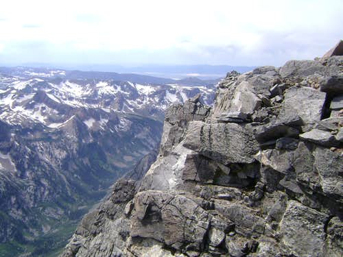The top of the South Buttress of Mount Moran.