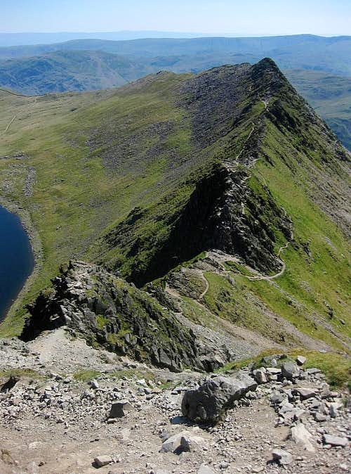A view down Striding Edge
