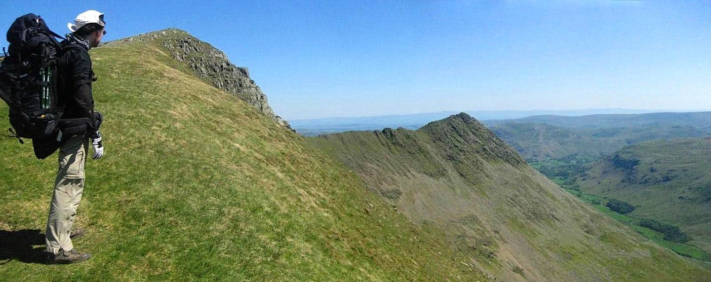 Looking down Striding Edge