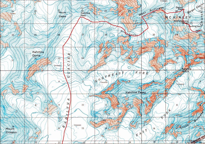 West Buttress Climbing Hiking Mountaineering SummitPost - Mt mckinley on us map