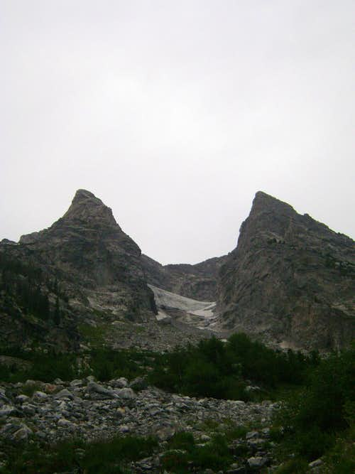 The East and West Horns of Mount Moran, Teton Range