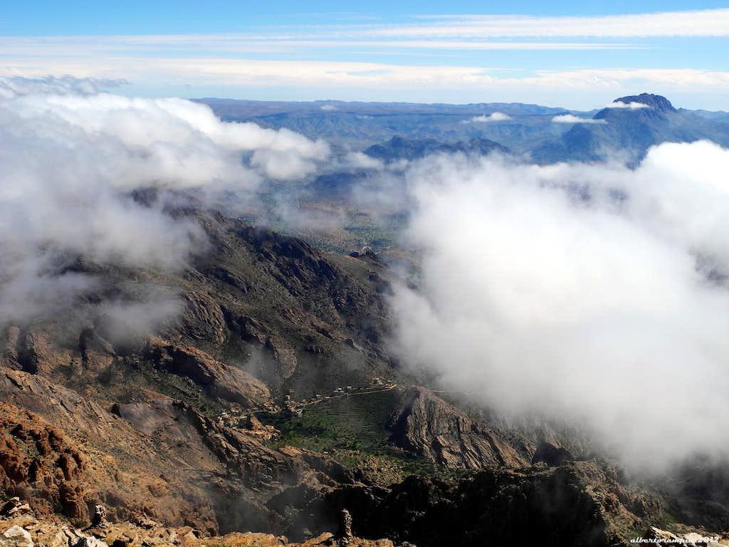 Adrar Mgourn seen from the summit of Jebel El Kest