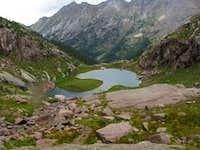 unnamed lake below Twin Thumbs Pass, Noname Basin, San Juan Range, CO
