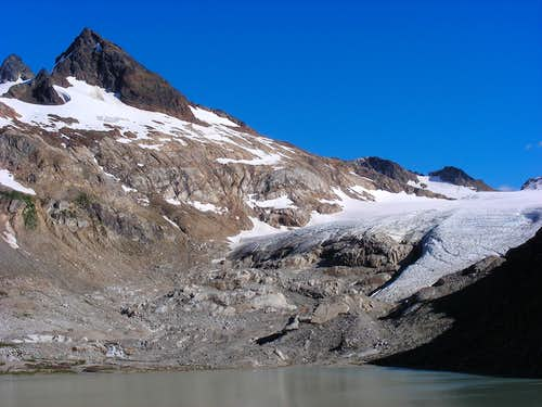 Sentinel Peak and South Cascade Glacier