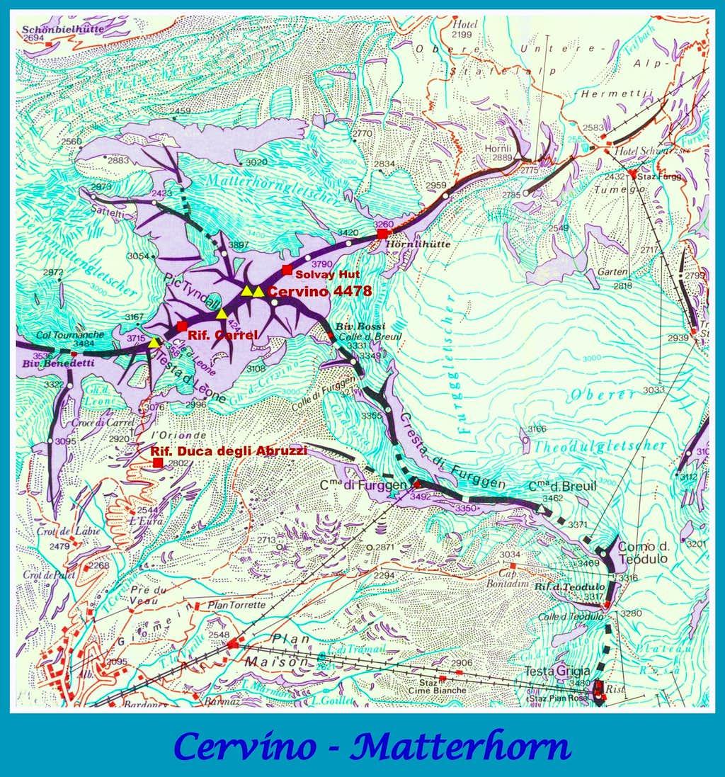 Cervino - Matterhorn map