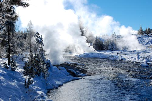 Firehole River, Yellowstone in Jan.