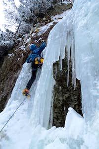 Technical ice climbing