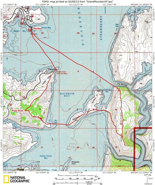 Island Mountain Topo Map