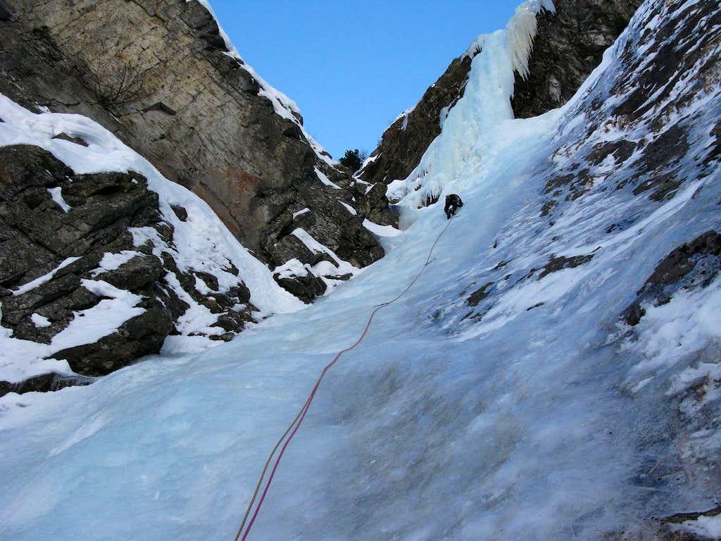 Ice climbing route Fenstergucker