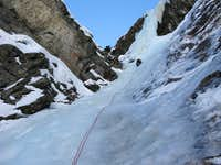 Ice climbing route Fenstergucker