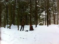The spot where we established basecamp