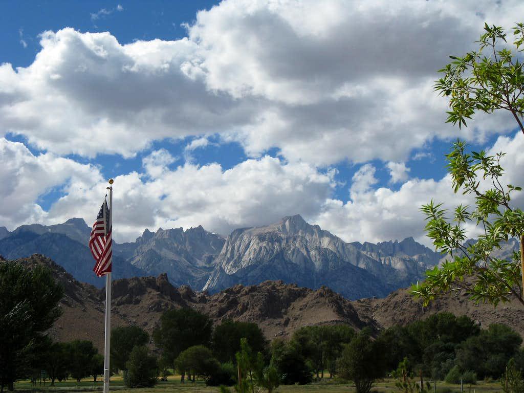 Lone Pine Ranger Station View of Sierras