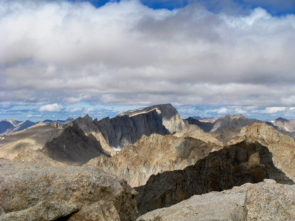 Mt. Whitney close-up from Mt. Langley