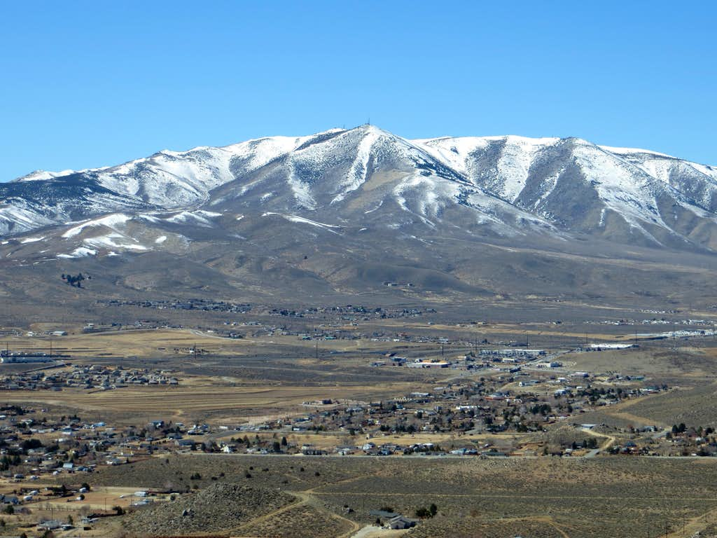 View west to Peavine Peak 8,266'