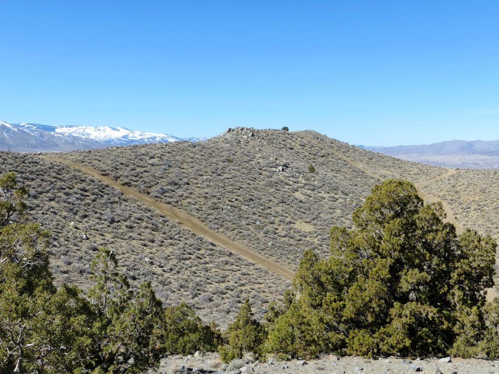 True summit of the Sun Valley Hills from Point 5861