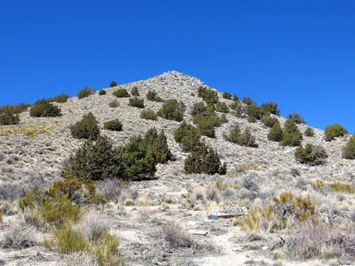 You can scramble up steeply off-road to Point 5861