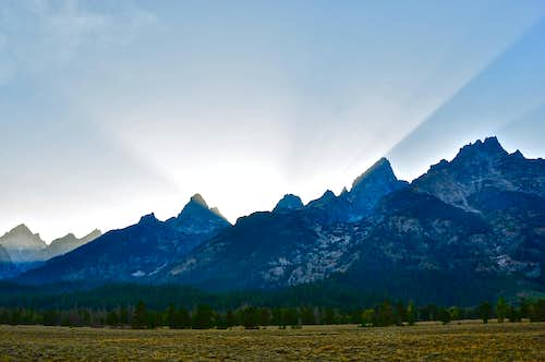 Grand Teton sunset...