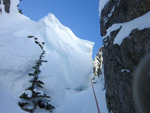 Cornice on Pineapple Pass