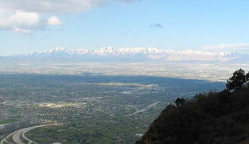 The Oquirrh range as seen...