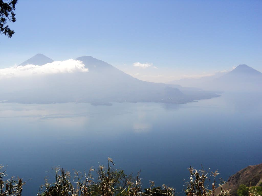 Three Volcanoes at Lake Atitlan, Guatemala