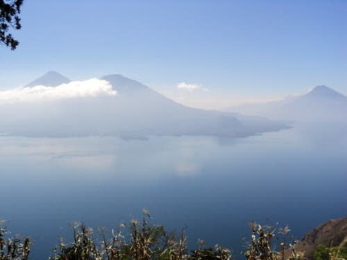 Three Volcanoes at Lake Atitlan, Guatemala