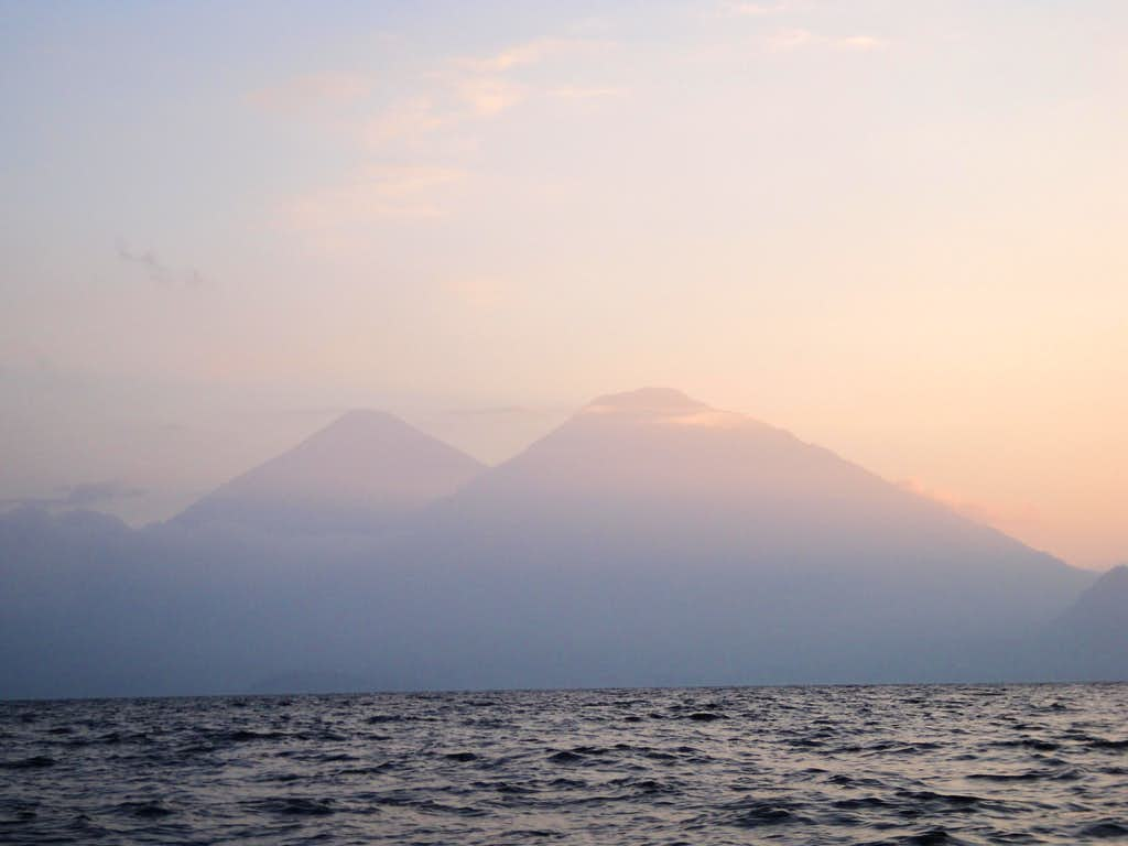Dusk on Lake Atitlan, Guatemala