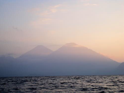 Dusk on Lake Atitlan, Guatemala