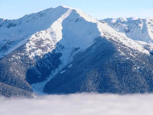 Galena Peak rising from the...